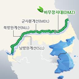 비무장지대(DMZ) 군사분계선(MDL) 북방한계선(NLL) 남방한계선(SLL)